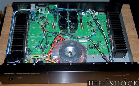 rotel power amplifier rb  mkii  rotel hifishock