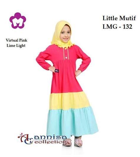 Baju Gamis Mutif Model 122 longdress gamis anak mutif 132 pink