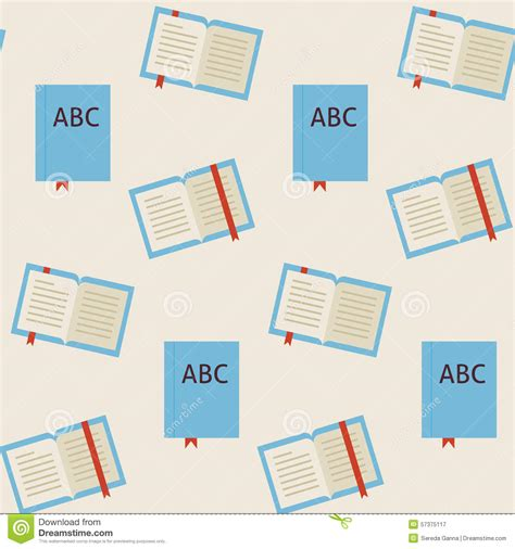 apupa pattern in library science flat vector seamless pattern school and library reading