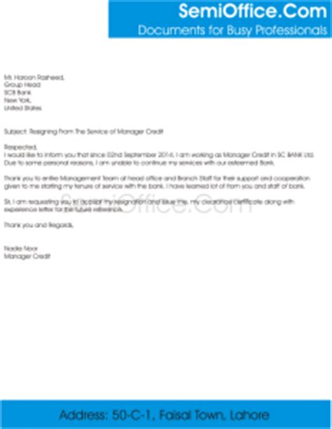 Work Experience Letter Marketing Executive Resignation Letter For Branch Manager