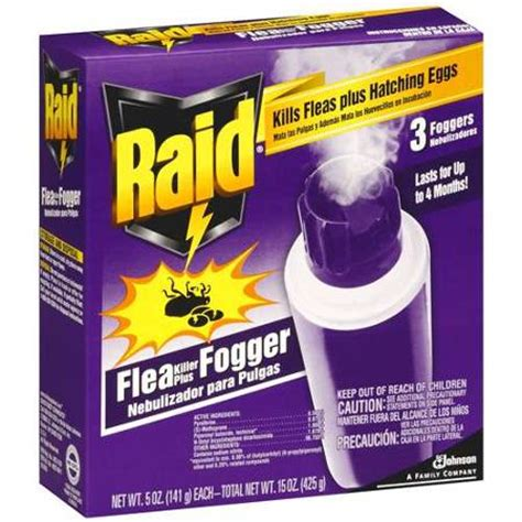 bed bug fogger raid plus 3 foggers flea killer 15 oz walmart com