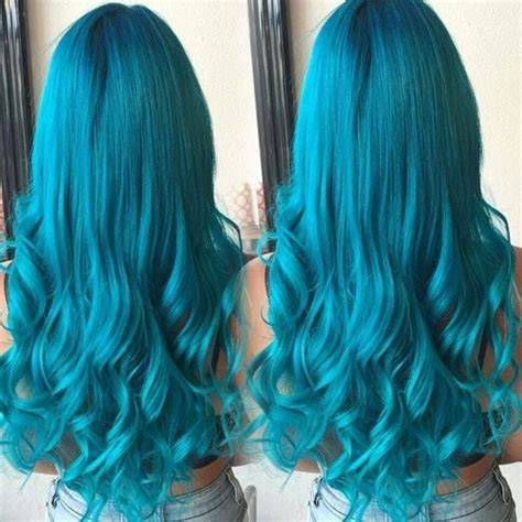 turquoise hair ideas   pinterest mint