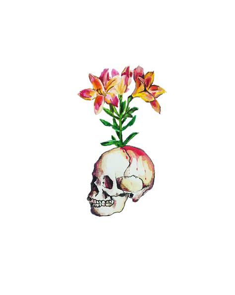 tattoo flor png tatuaje calavera tumblr