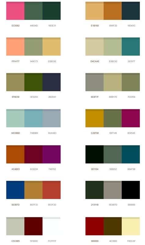 nice color combinations 14 wonderful color palettes psd graphicsfuel