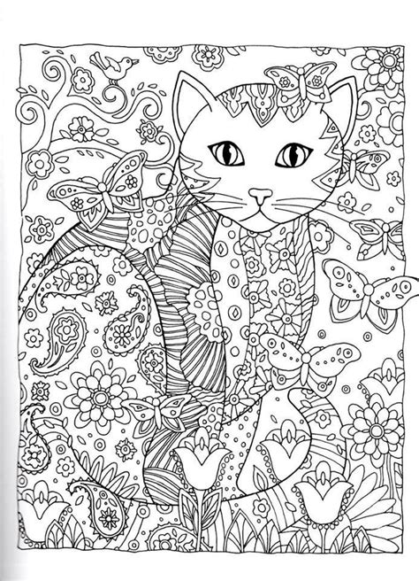 cat zentangle coloring page 485 best images about cat zentangle coloring on