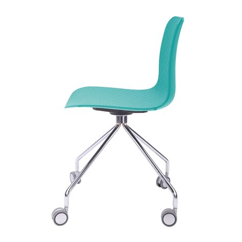 hebe series turquoise office chair molded plastic designer