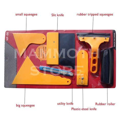 Alat Reparasi Kaca Mobil Retak Windshield Car Kit jual alat kupas pasang lapisan kaca mobil sticker 7 in 1 scraper mammoth store