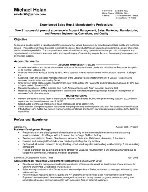 Resume Exles For Wireless Sales Michael Holan Sales Resume 06292011