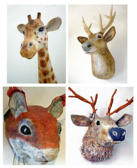 best 25 paper mache animals ideas on paper