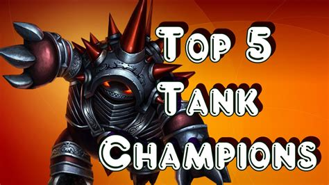 best tank lol top 5 tank chions 2016 league of legends youtube