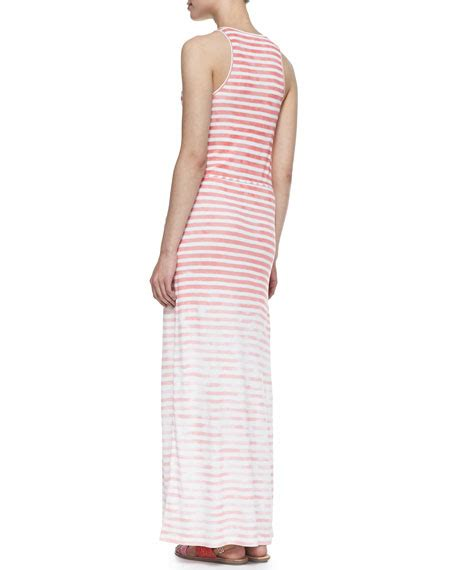 Maxidress Emilya soft joie emilia sleeveless stripe maxi dress