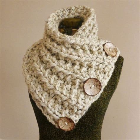 button scarf knitting pattern instant knitting pattern the huntress cowl