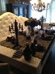 Elegant Halloween Home Decor Elegant Halloween Tablescaping Halloween Table D 233 Cor