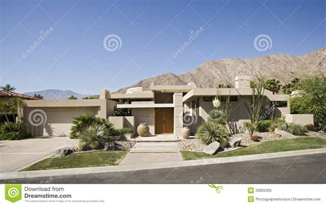 Beautiful House Plans by Modern Suburban House Exterior Royalty Free Stock Photo