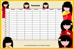 school timetable template free back to school ii free printable school timetable