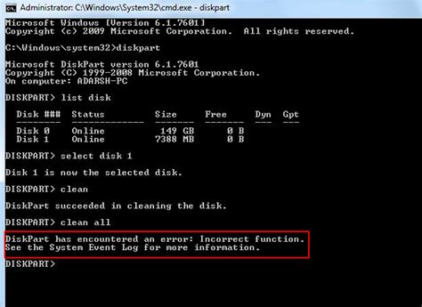 Diskpart Format Access Is Denied | diskpart has encountered an error access is denied