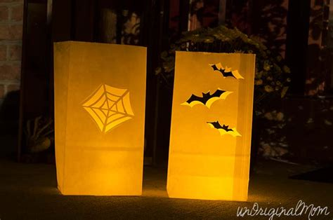 patterns for paper bag luminaries halloween paper bag luminaries unoriginal mom