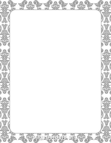 6 best images of printable damask borders for invitations 17 best images about page borders frames on pinterest