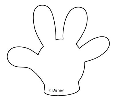 mickey mouse hands gloves templates parties free cute quality