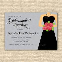 bridesmaid invitation templates bridesmaids luncheon invitation bridal brunch diy