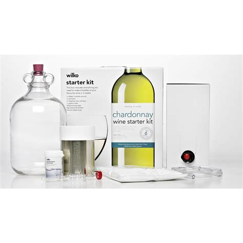 L Kits For Bottles wilko chardonnay wine starter kit makes 6 bottles at wilko