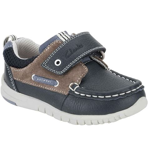 clarks deck flex boys casual shoes velcro charles clinkard