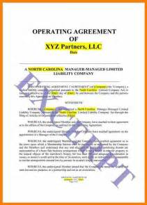 Simple Operating Agreement Template 6 Simple Llc Operating Agreement Template Land Scaping