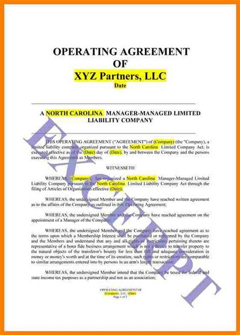 operating agreement template llc 6 simple llc operating agreement template land scaping