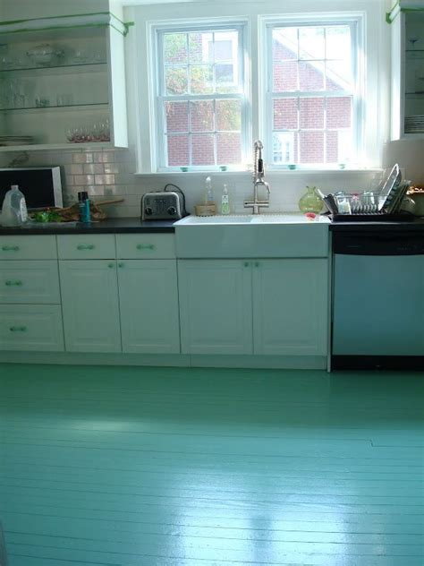 25 best ideas about painted kitchen floors on