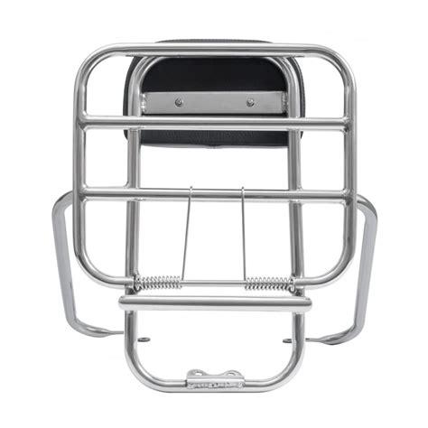 tsr vespa tsr stainless steel rear rack carrier back rest