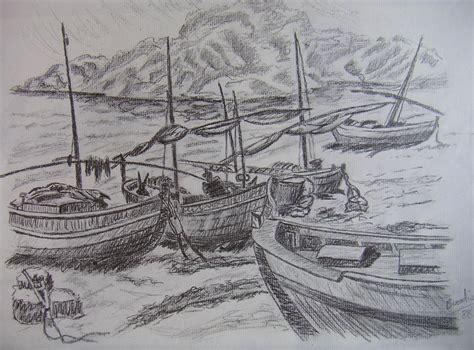 imagenes de barcos a lapiz imagenes de paisajes marinos en carboncillo buscar con