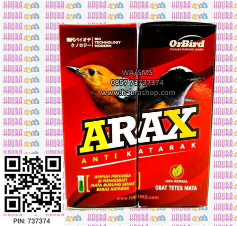 Arax Anti Katarak haura shop arax obat katarak burung rp 25 000