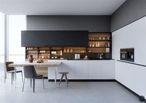 black white wood kitchens ideas inspiration