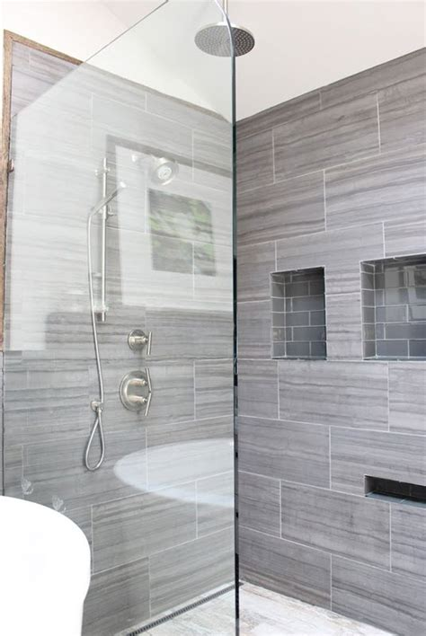 grey bathroom wall tiles 40 gray bathroom wall tile ideas and pictures
