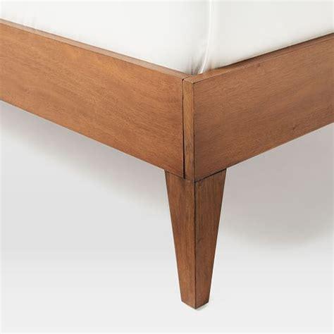 Wood Bed Frame Legs Narrow Leg Wood Bed Frame Acorn West Elm