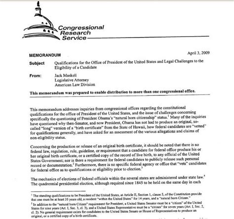 Memo Format Conclusion Congress Report Concedes Potus Obama Eligibility Unvetted Tides Turn Against Him Page 1
