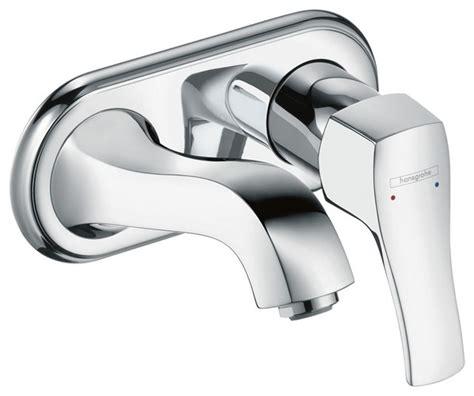 hansgrohe metris higharc single handle kitchen faucet with hansgrohe 31003001 metris c wall mounted single handle