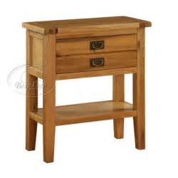 vancouver oak small console table with 1 drawer amp 1 shelf