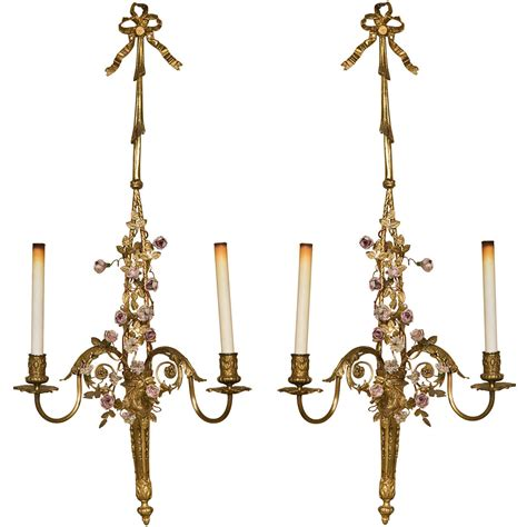 french style wall lights pair french style ornate single sockett wall sconces with