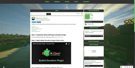 buycraft themes maker professional enjin theme 3 minecraft market