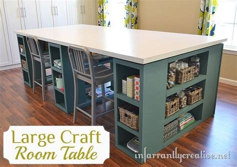 large craft table with storage large craft table