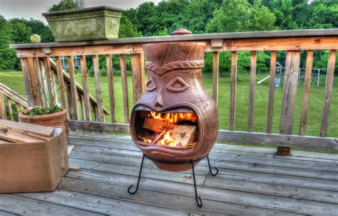 Chiminea Landscape Ideas by Special Large Clay Chiminea Outdoor Fireplace Bistrodre