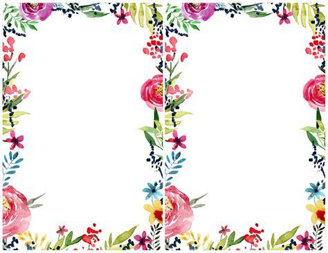 floral borders invitations printable invitation