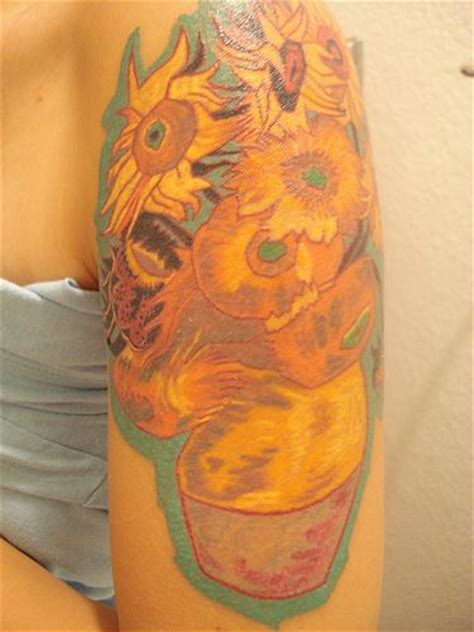 van gogh sunflower tattoo a of the gogh painting of sunflowers