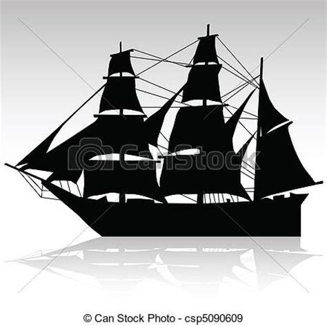dessin bateau silhouette bateau vecteur vieux silhouettes voile vecteurs eps