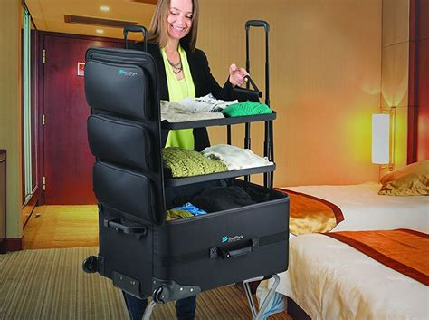 suitcase with built in shelves psyup