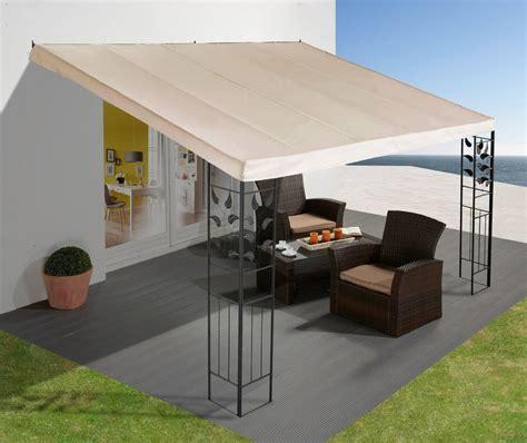 terrassen pavillon wasserdicht anbaupergola 187 bl 228 tter 171 3x4 m kaufen otto
