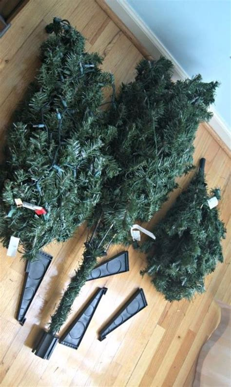trick for making a fake christmas tree look fabulous 8 hacks to make your fake christmas tree look full and