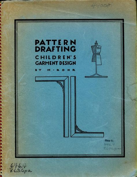 pattern drafting and grading m rohr pdf vintage patternmaking for children patterns books