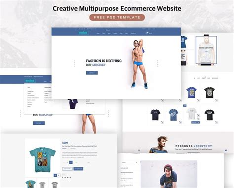 Creative Multipurpose Ecommerce Free Psd Template Download Download Psd Single Product Ecommerce Website Template